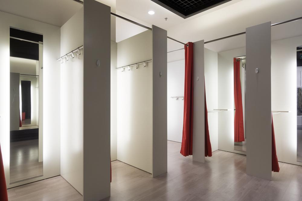 iluminación LED profesional en probadores