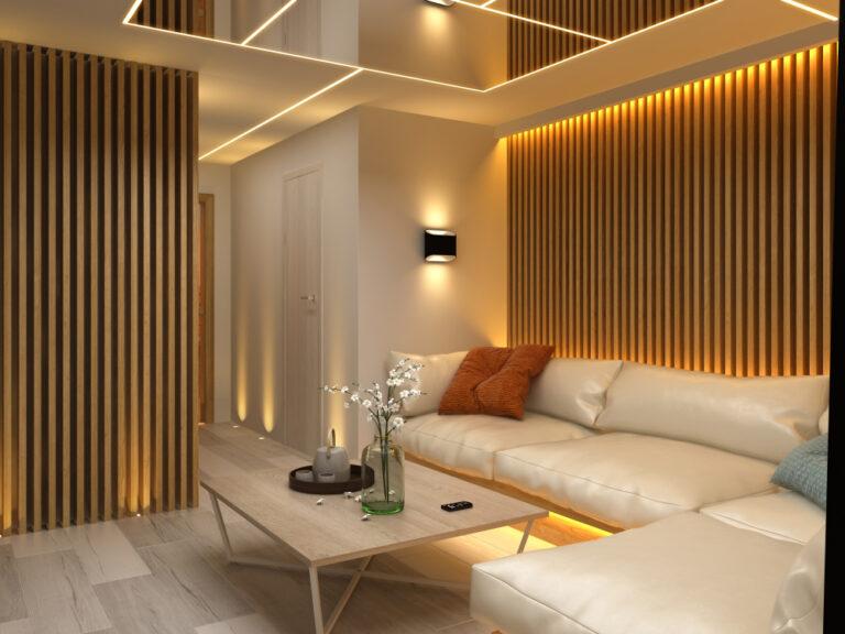 iluminación LED decorativa para el salón