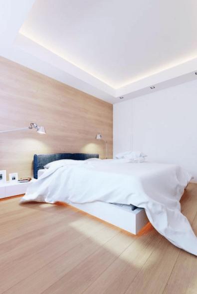 luces led habitacion borde de cama