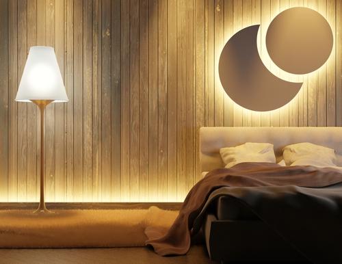 luces led habitacion rebote pared de cama