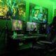 habitacion gamer verde