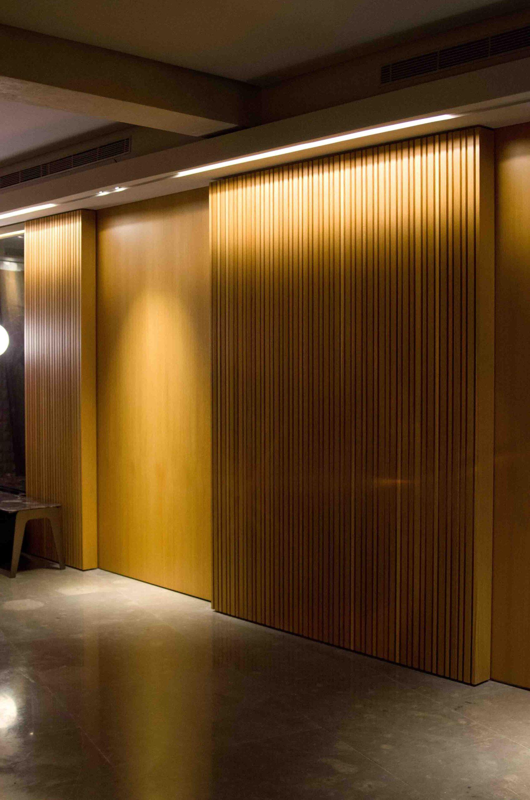 arquitectura y diseño de pared texturizada