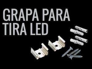 Grapas para tiras LED de todos los modelos de perfiles