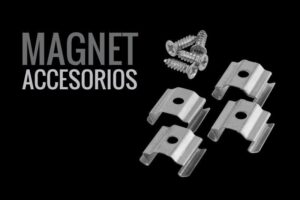 grapas para tira LED MAGNET: GRAPAS Y TORNILLOS DE MONTAJE DE TIRA LED RIGIDA Y MAGNETICA - Lumstock