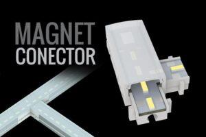 conector de tira LED MAGNET: CONECTOR PARA INTERSECCIONES DE TIRA LED RIGIDA Y MAGNETICA - Lumstock