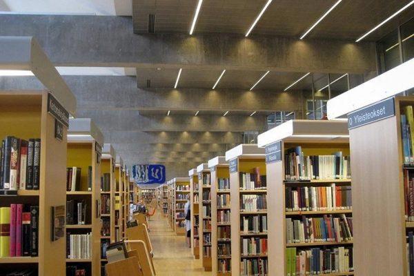 Perfil para tira LED OLGA LUMSTOCK para grandes alturas como iluminación de bibliotecas