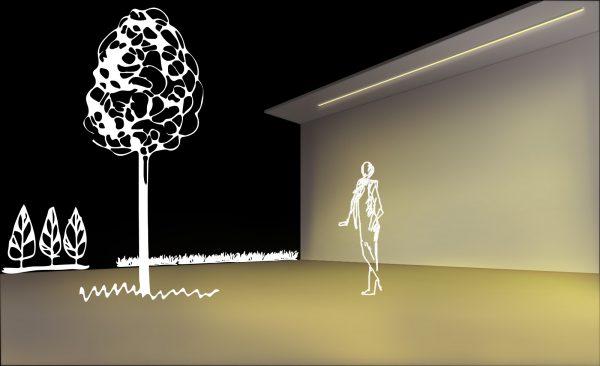 Iluminación ambiental para exterior