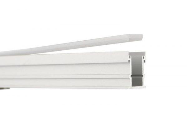 Perfil para tira LED GERA LUMSTOCK tiene cubierta de policarbonato color MILKY