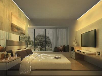 Iluminación ambiental para dormitorios de lujo