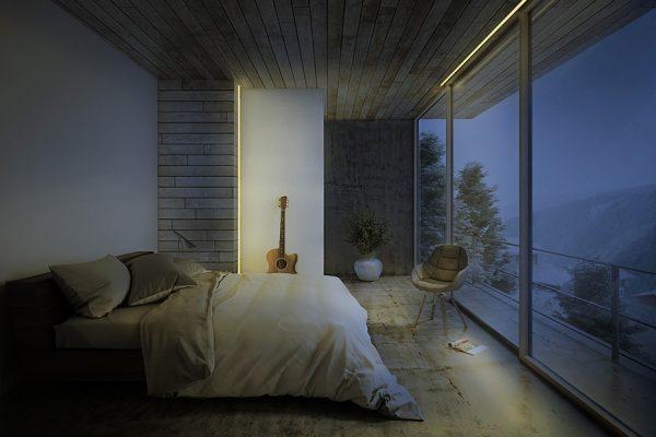 habitacion-matrimonio-techo-pared