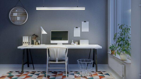 trabajos desde casa: oficina en casa, kits para iluminar
