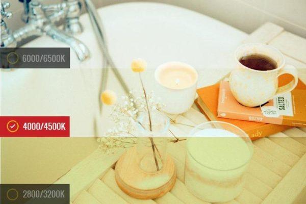temperatura de color para reformas de baños