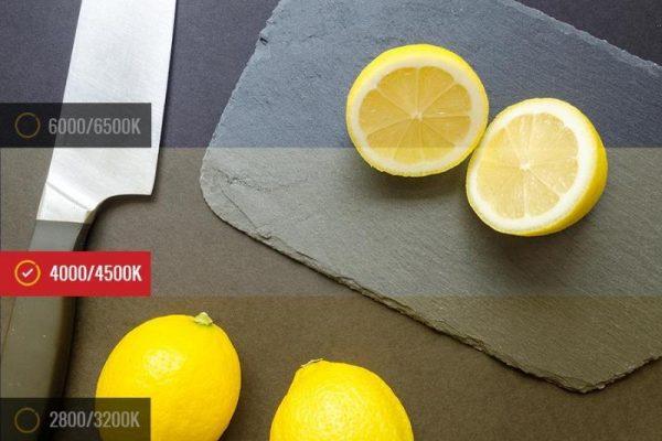 temperatura de color kit chef para barras de cocina