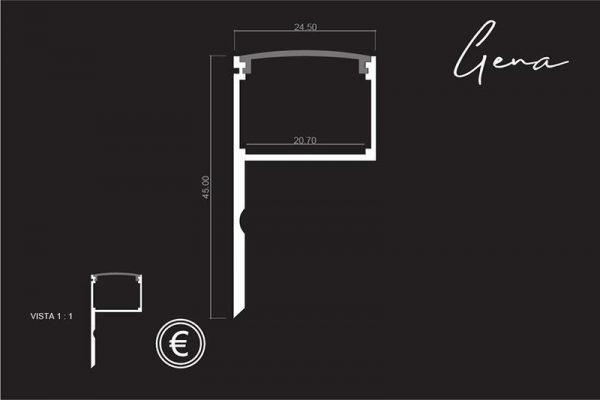 medida perfil de aluminio para cabeceros de cama originales