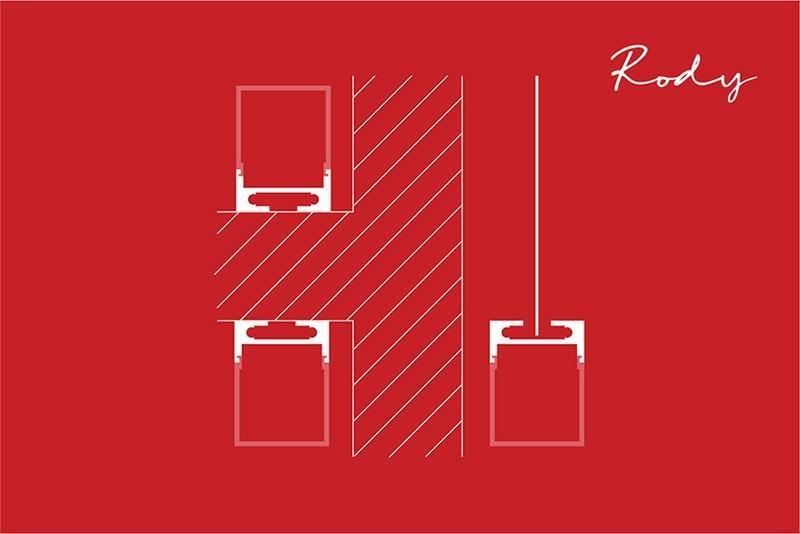 instalación de Perfil para tira LED RODY