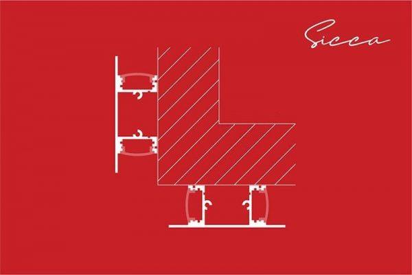 forma de instalación del Perfil para tira LED SICCA LUMSTOCK