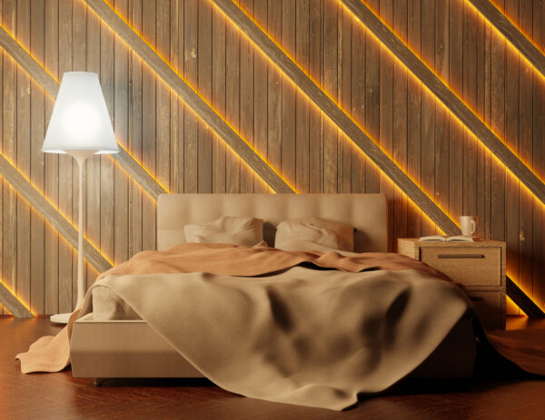 perfil tira LED doble emisión para luz ambiental