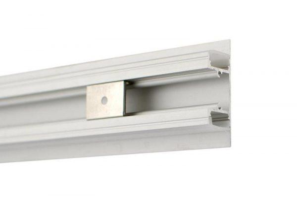 Perfil para tira LED SICCA LUMSTOCK incluye grapas para su instalación