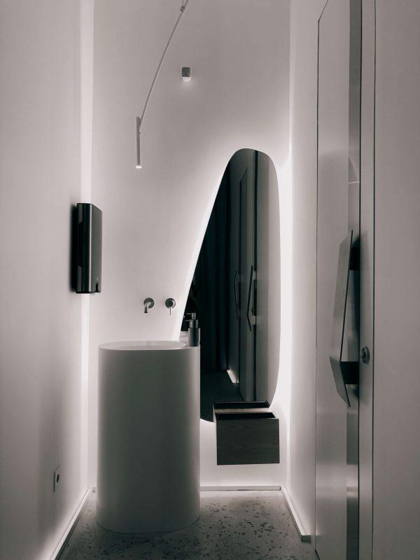 perfil led para pared de baño