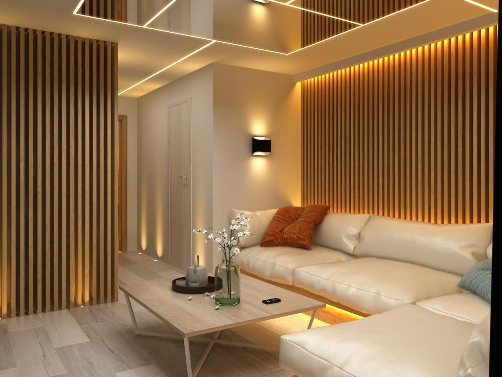salón de lujo con luz cálida