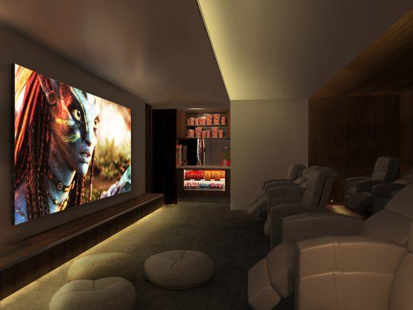 Tira LED DECORATIVA efecto lujo para salas de tv