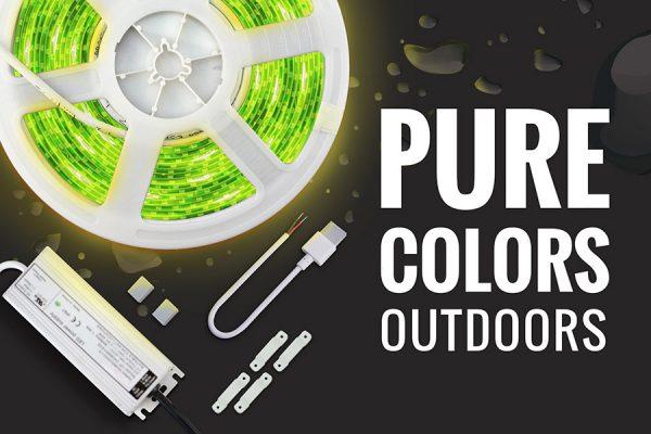 tira LED exterior manguera RGB