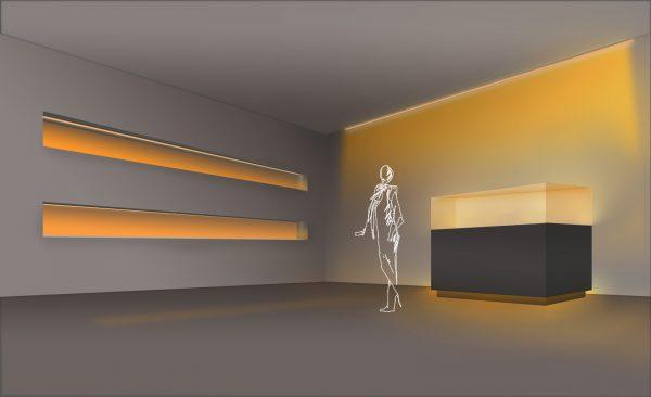 Efecto lujo o relajación con luz para acentuar extra cálida