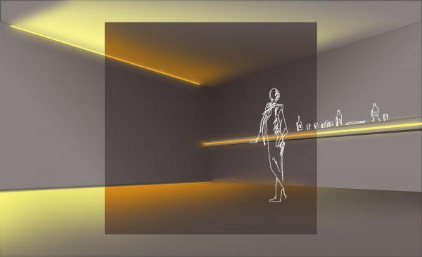 interiores de lujo con tira LED DIM to WARM