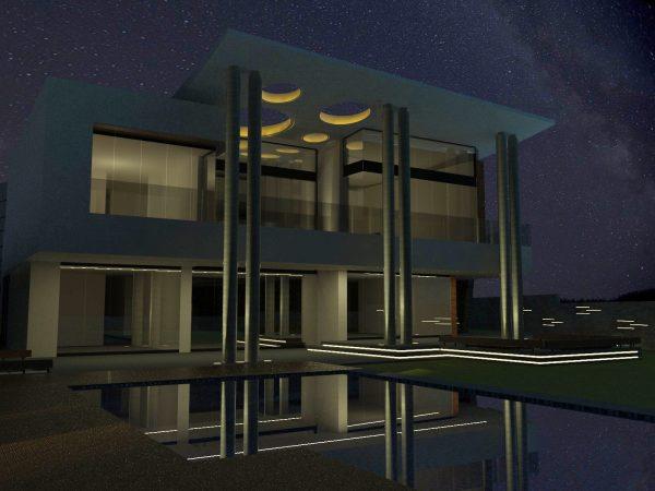 Tira LED exterior manguera emisión doble cara para exteriores y fachadas
