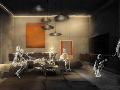 Kit living o-zone para salón comedor moderno