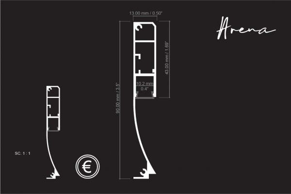 perfil de aluminio para rodapié medidas