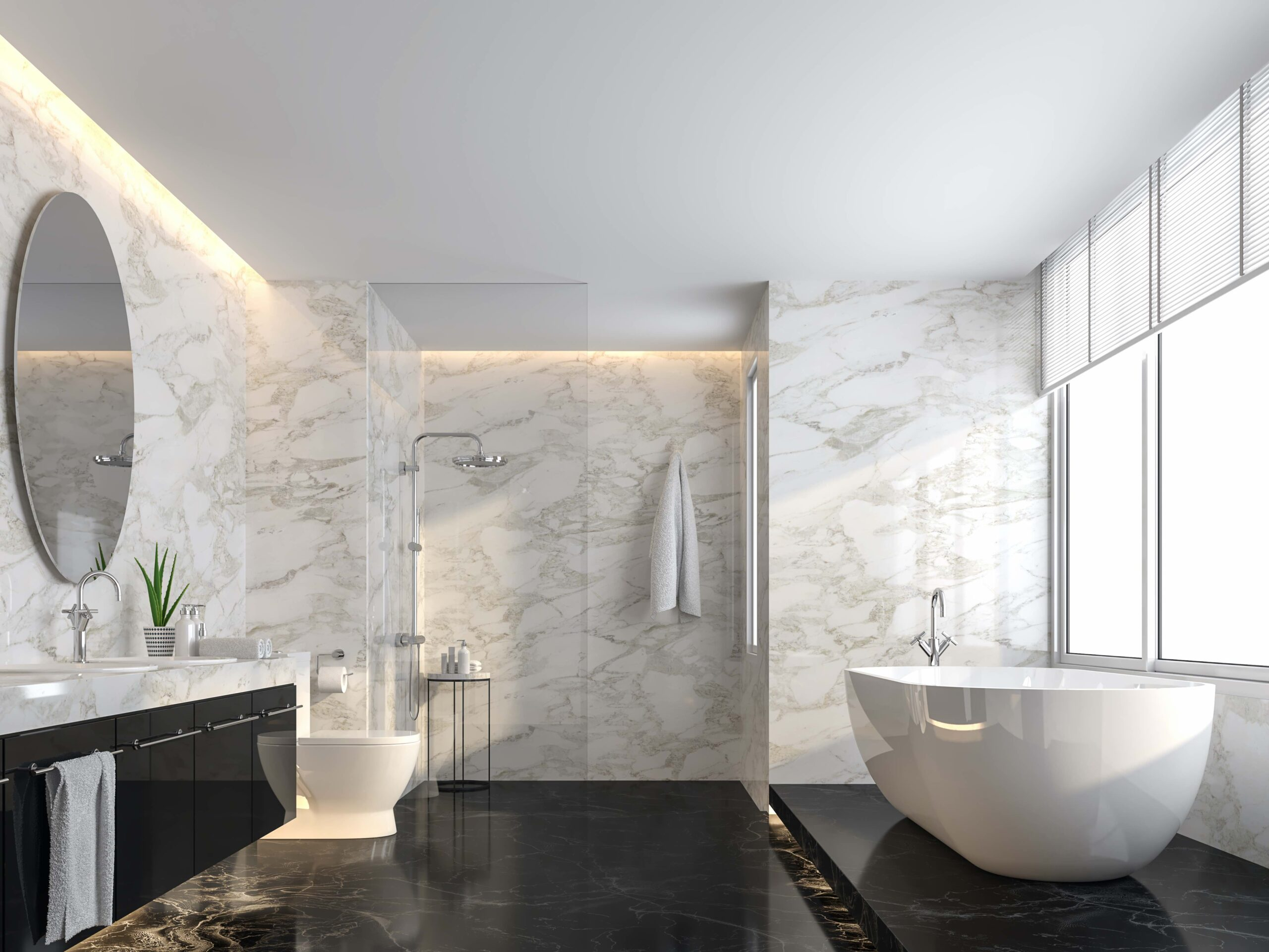 DECORACION CON TIRAS LED BLANCO NEUTRO para baños