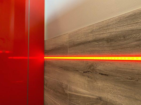 Perfil tira LED para albañilería en paredes